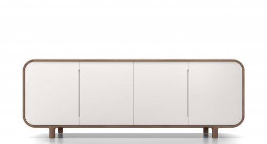 Thelos - Slot sideboard - walnut - white