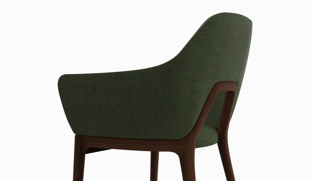Thelos - Decó chair - Walnut - Class Nature 162 axo rear zoom