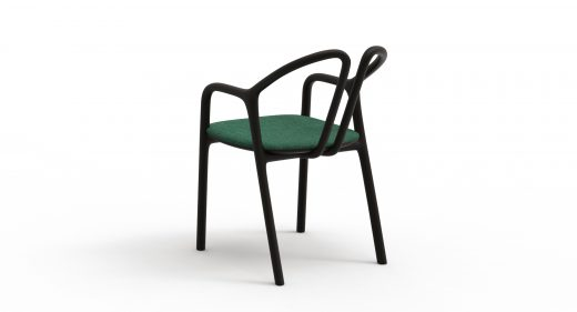 Thelos - Petal chair - Ash stained Black - Aged Design 48