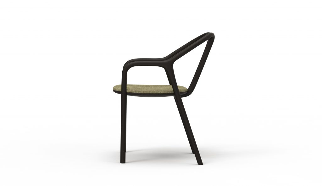 Thelos - Petal chair - Ash stained Black - Aged Design 85