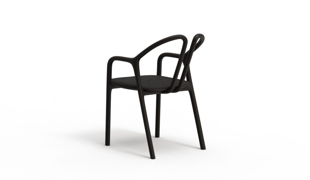 Thelos - Petal chair - Ash stained Black - Aged Nature 122