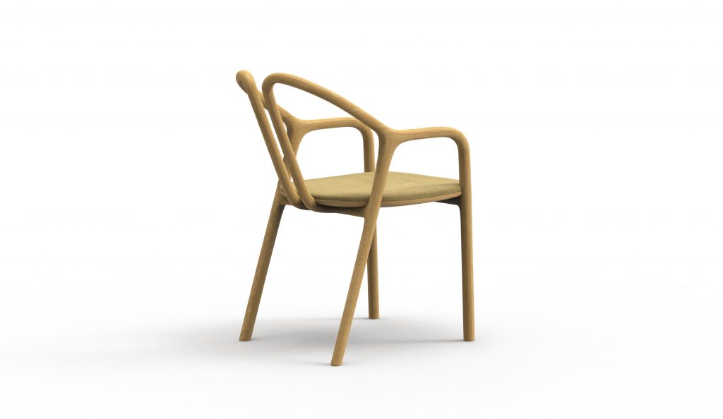 Thelos - Petal chair - Ash stained Oak - Aged Design 89